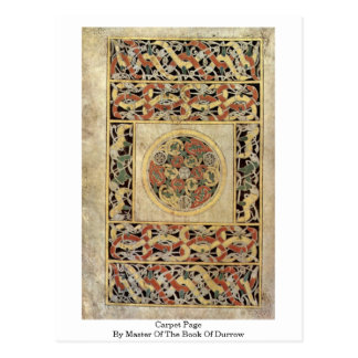 Carpet Page By Master Of The Book Of Durrow Postcard