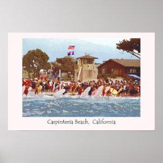Carpinteria Beach Junior Lifeguards Poster
