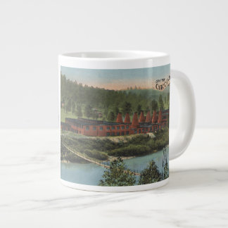 Carr China postcard on giant mug