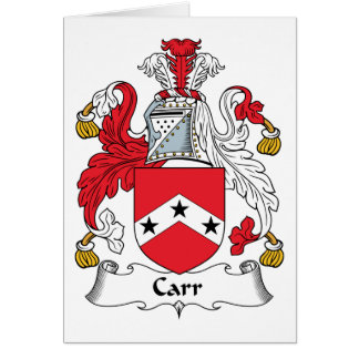 Carr Family Crest Card