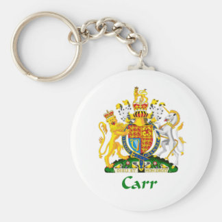 Carr Shield of Great Britain Basic Round Button Keychain