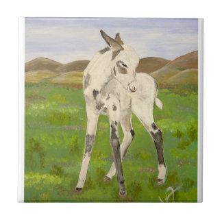 Carrara the Donkey Tile