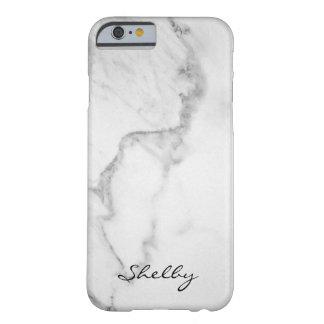 Carrare appelé personnalisé cas de marbre de coque barely there iPhone 6