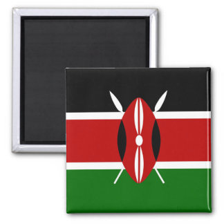Carré d'aimant de drapeau du Kenya Magnet Carré