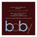 Carré d'invitation de baby shower