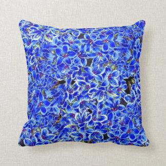 Carreau botanique floral de fleurs de sauge bleue coussins carrés