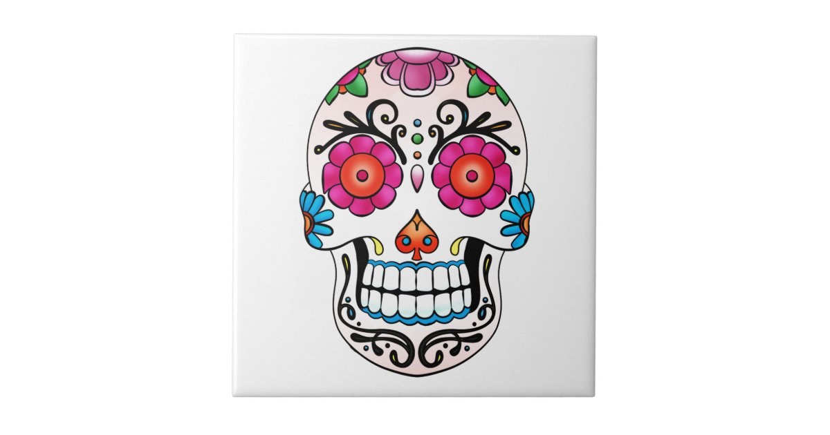 carreau cr ne de sucre jour des morts tatouage mexique. Black Bedroom Furniture Sets. Home Design Ideas