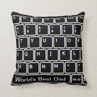 Carreau de clavier d'ordinateur oreiller