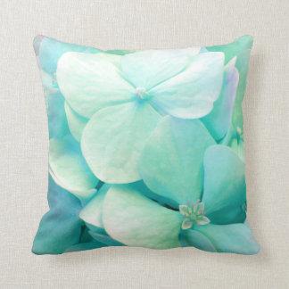 Carreau floral d'hortensia vert en bon état de oreillers