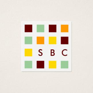 carrés de mod carte de visite carré