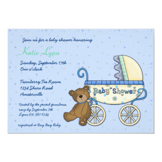 Carriage Bear Invitation