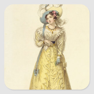 Carriage Costume, fashion plate from Ackermann's R Square Sticker