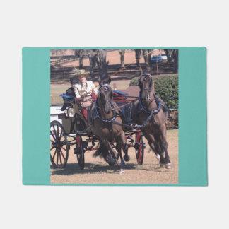 carriage driving doormat