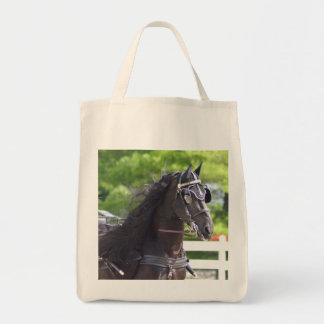 carriage driving grocery tote bag