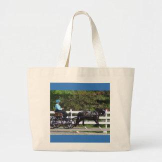 carriage driving jumbo tote bag