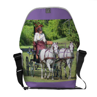 carriage driving messenger bag