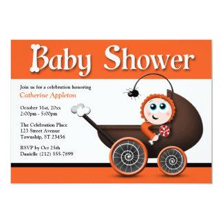 "Carriage Halloween Baby Shower Invitations 5"" X 7"" Invitation Card"