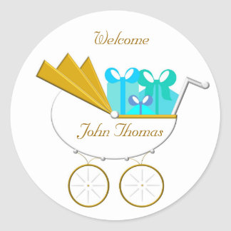 Carriage Invitation, Welcome Round Sticker