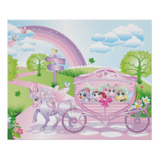Carriage Poster for kids room