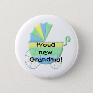 Carriage Proud New Grandma 2 Inch Round Button