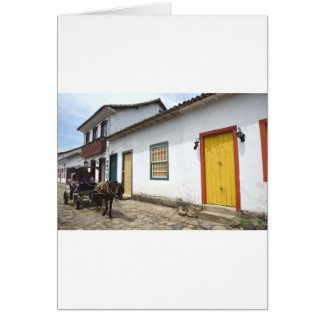 Carriage Ride On A Parati Street, Brazil Card