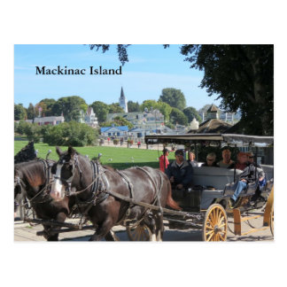 Carriage Rides on Mackinac Island Postcard