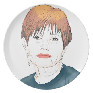 Carrie Fisher Plate