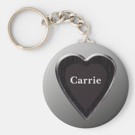 Carrie Heart Keychain