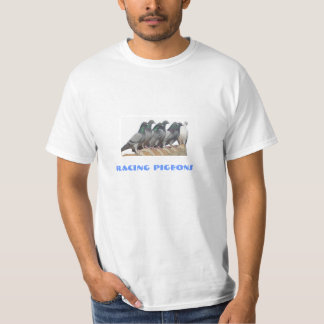 carrier pigeons on the tile roof T-Shirt