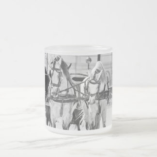 carrige horses. spain frosted glass coffee mug