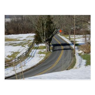 Carroll County, Maryland Road Postcard