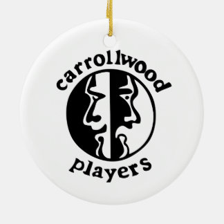 Carrollwood Players Round Ceramic Ornament