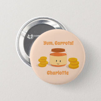 Carrot Baby Food Character | Button