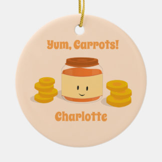 Carrot Baby Food Character | Ornament