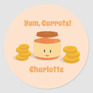 Carrot Baby Food Character | Sticker