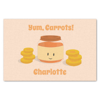 Carrot Baby Food Character | Tissue Paper
