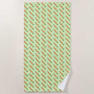 Carrot Beach Towel