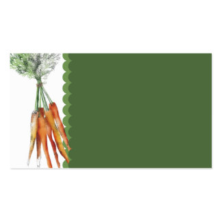 carrot bunch cooking culinary business card