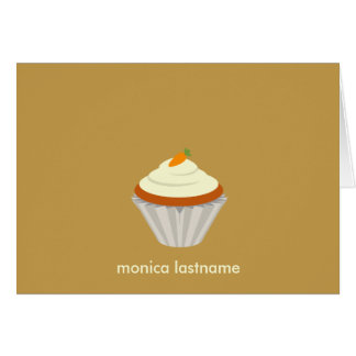 Carrot Cake Cupcake Personalized Notecard