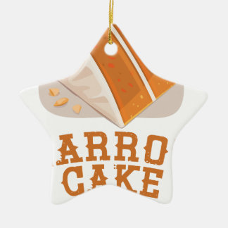 Carrot Cake Day - Appreciation Day Ceramic Star Ornament