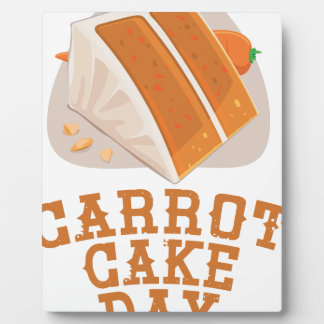 Carrot Cake Day - Appreciation Day Plaque