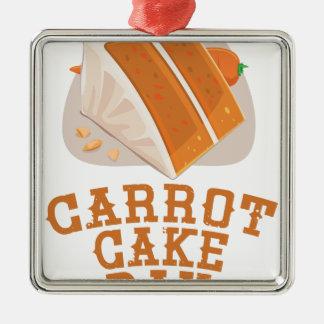 Carrot Cake Day - Appreciation Day Silver-Colored Square Ornament
