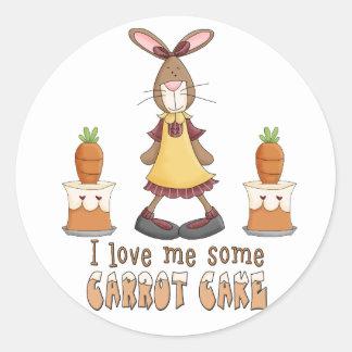 Carrot Cake Love Round Sticker