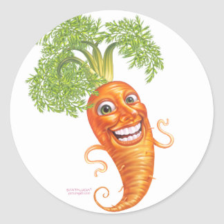 carrot classic round sticker