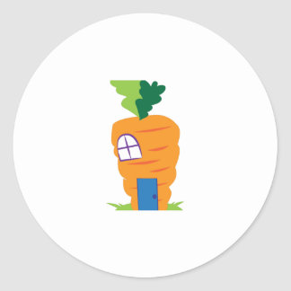 Carrot House Classic Round Sticker