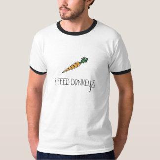 carrot, I FEED DONKEYS T-Shirt