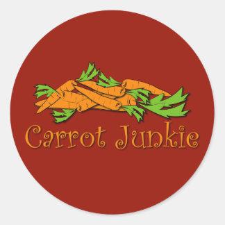 Carrot Junkie Classic Round Sticker