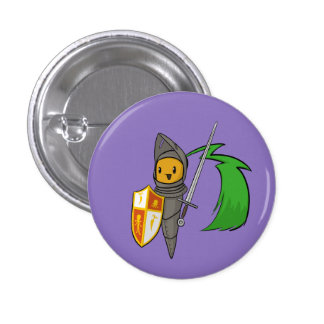 Carrot Knight 1 Inch Round Button