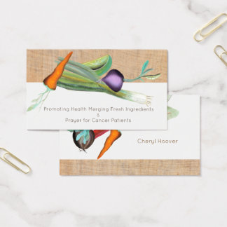 Carrot Lemon Business cards Onion Turnip