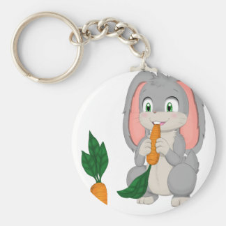 Carrot Lovers Basic Round Button Keychain